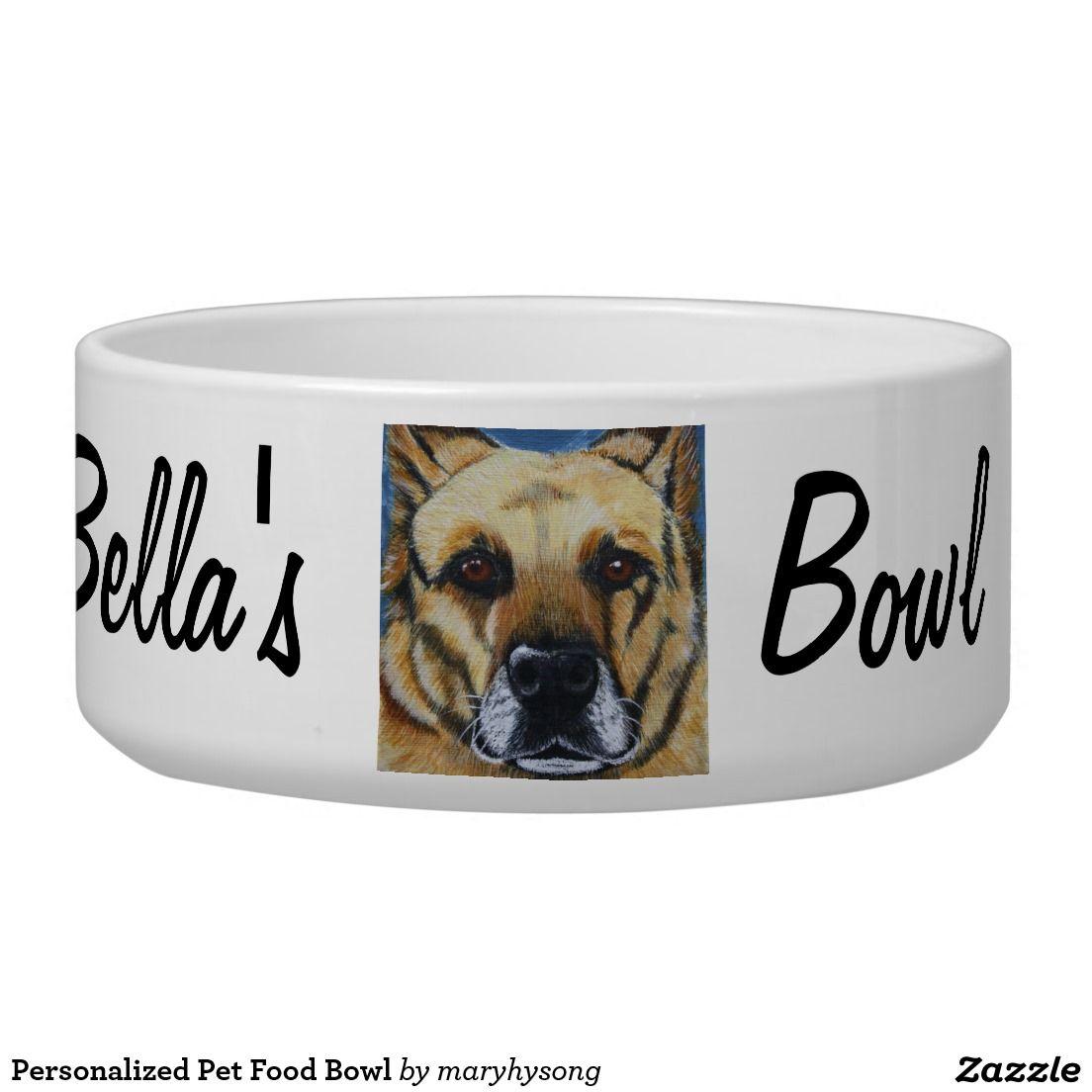 Personalized Pet Food Bowl Zazzle Com Food Bowl Pet Bowls