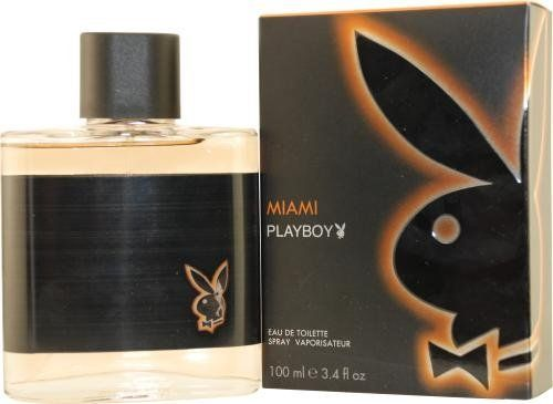 DuplofB002XQ1XDM_Playboy Fragrances Playboy Miami By Playboy Fragrances For Men Eau De Toilette Spray, 3.4-Ounce / 100 Ml by Playboy Fragrances. $11.89. A heart is dominated by rosewood, along with jasmine and cyclamen, while a base attracts attention with amber, musk and cedar, which leave a magnetic scent on man's skin.. Playboy Miami was launched by the design house of Coty in the year 2008. PLAYBOY MIAMI by Playboy for Men EDT SPRAY 3.3 OZ Leafy Green, Bergamot, Cyclamen...