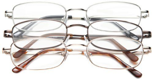 2d48fbda7a98 Three-pair of reading glasses by optx 20 20 at one affordable price. each  valu-pac features our alphareader nickel silver reading glasses. unisex ...