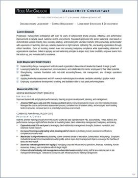 Organizational Leadership Resume Page   Resumes