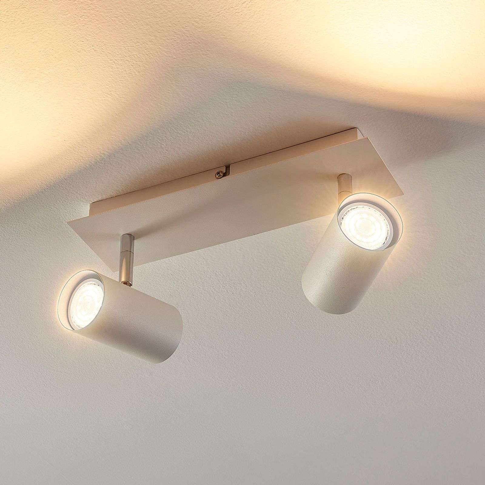 Spot A 2 Lampes Iluk Pour Le Mur Et Le Plafond En 2020 Bulbes Plafonnier Luminaire Led