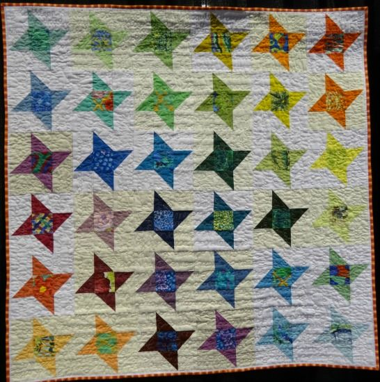 Modern Friendship Star Quilts At The International Quilt Festival