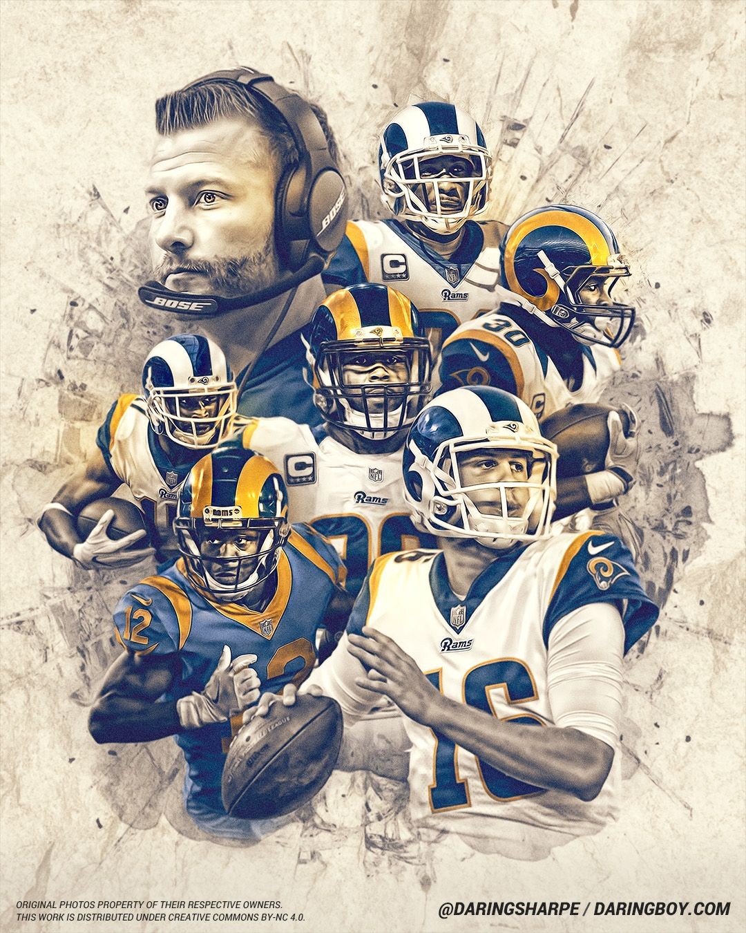 2019 Los Angeles Rams La Rams Football Los Angeles Rams Nfl Football Art