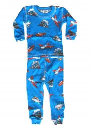 At Home Blue Trains and Planes Boys Pajamas SALE