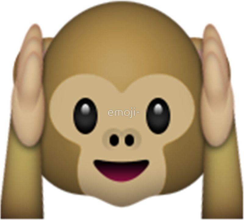 Monkey Emoji Hear No Evil Sticker With Images Monkey Emoji