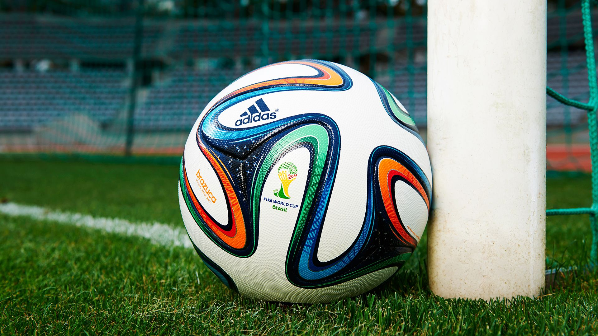 Soccer Ball Wallpaper: Brazuca Ball In Addition Goalposts Image Photo Free