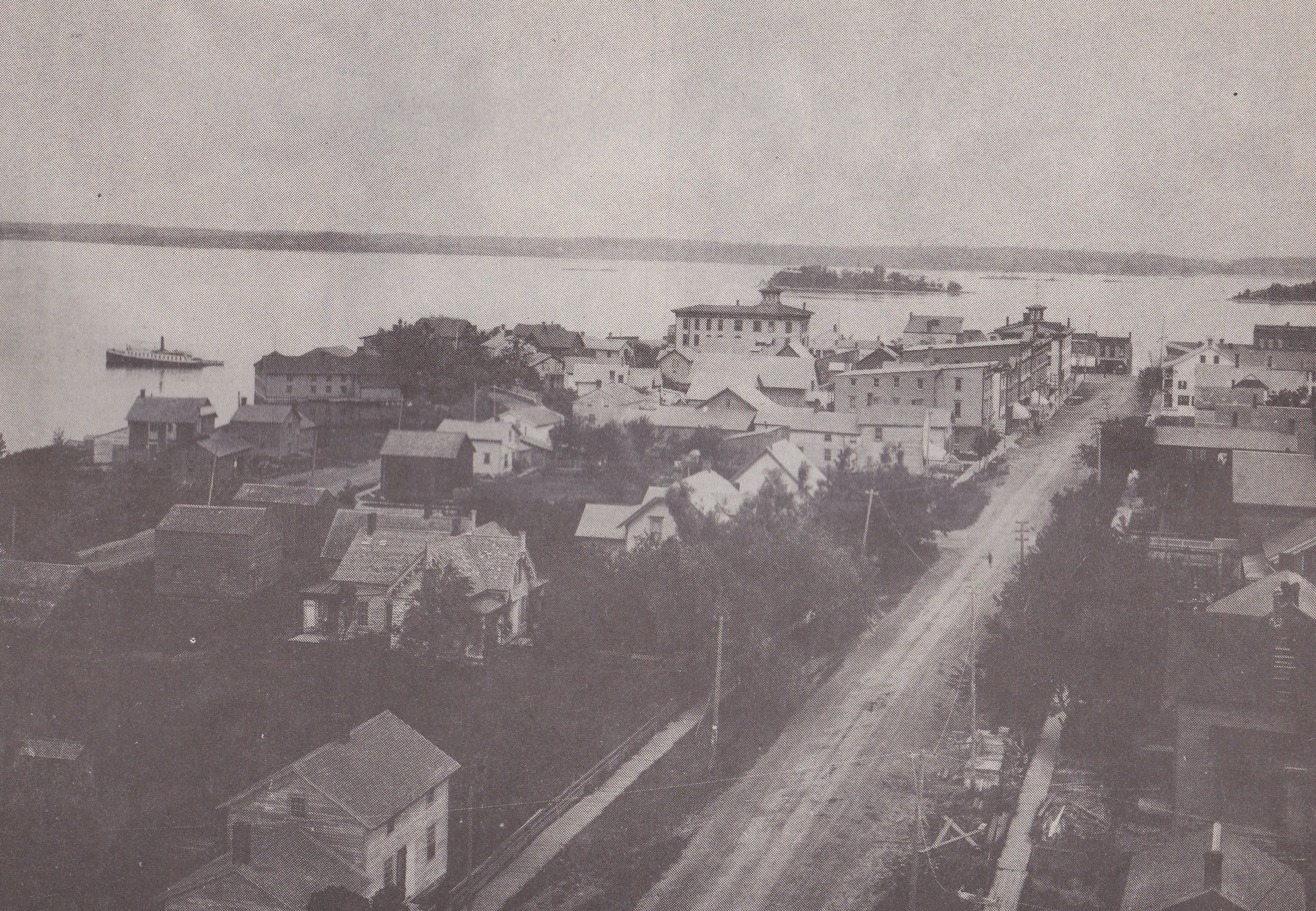 This Photo From 1889 Shows James St In Clayton Ny With Governor S Island In The Background Photo Taken From St Mary S Church B Thousand Islands Island Photo