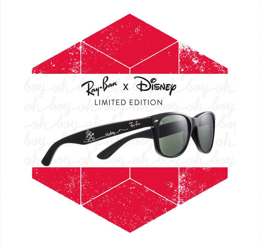 c72b2f3a197 2018 Disney Parks Mickey Mouse Ray Ban Wayfarer Black Sunglasses Limited  Edition  RayBan