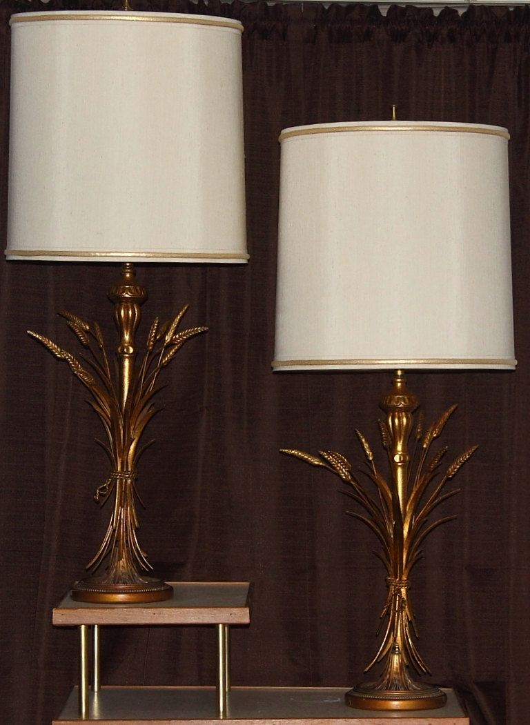 A Pair Frederick Cooper Mid Century Hollywood Regency Lamps Sheaf Of Wheat 44 By Lorisvintageads On Etsy Mid Century Lamp Vintage Mid Century Lamps Lamp