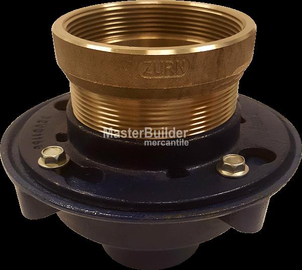 Zurn Zn415 S Floor Drain With Nickel Bronze Hub Funnel