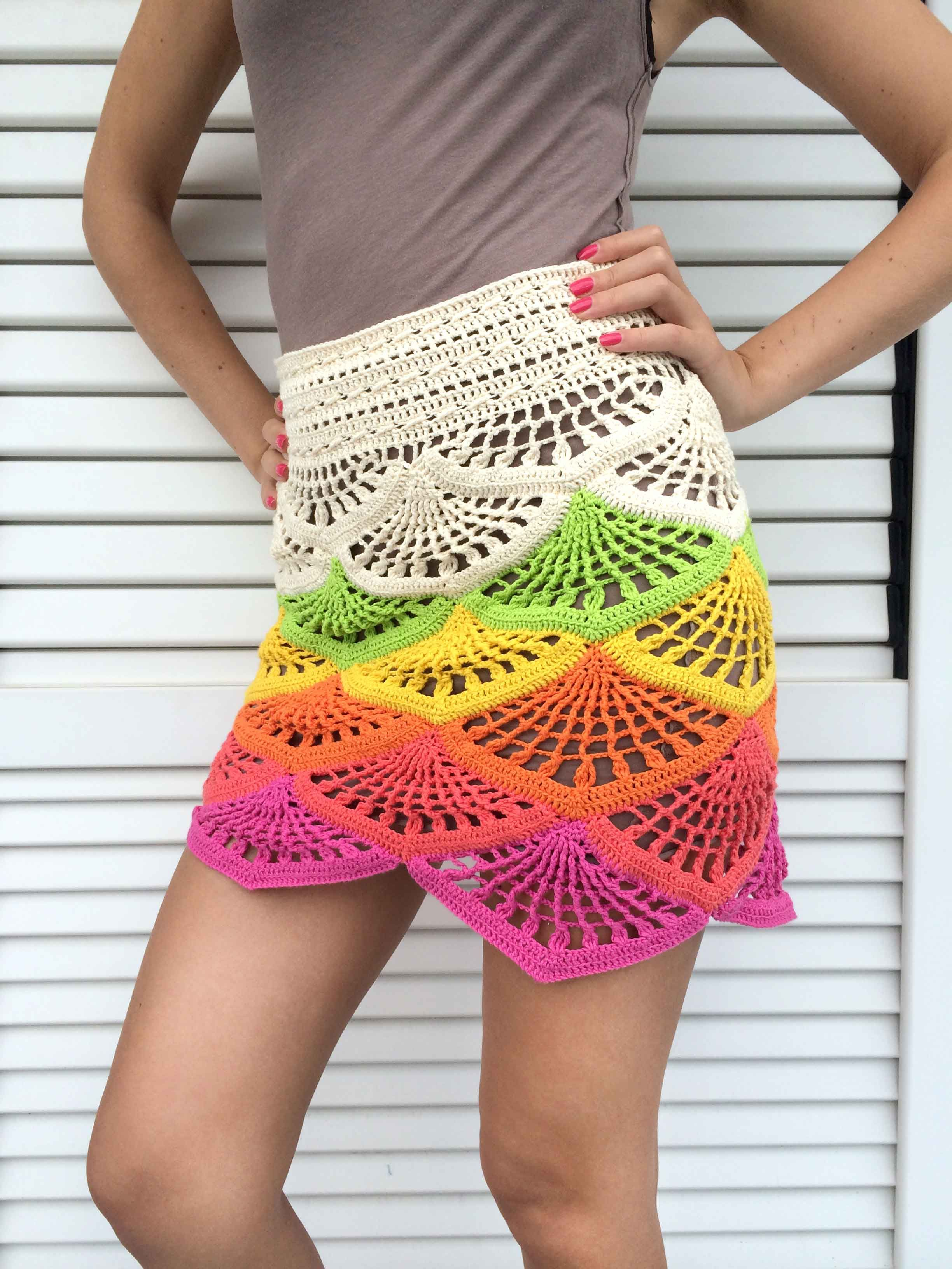 Crochet Mini Skirt Tutorial | Beautiful Crochet Stuff | Crochet ...