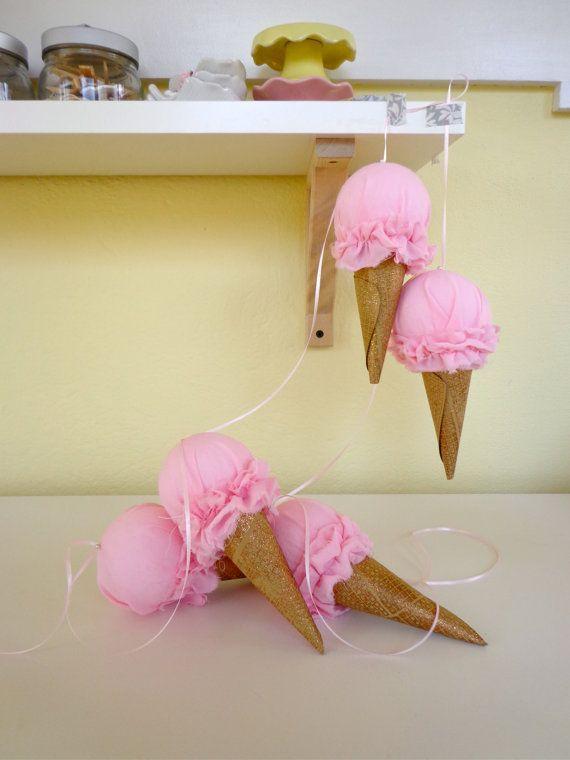 Ice Cream Garland by WellHelloSunshine on Etsy