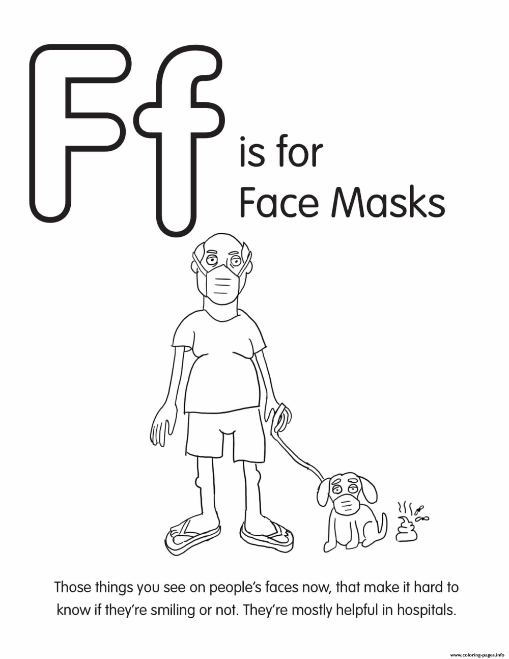 Print F Is For Face Masks Coloring Pages Coloring Pages Cool Coloring Pages Coloring Books
