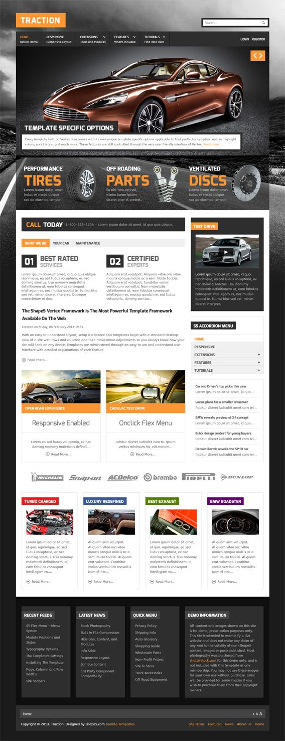 Responsive traction joomla template see more