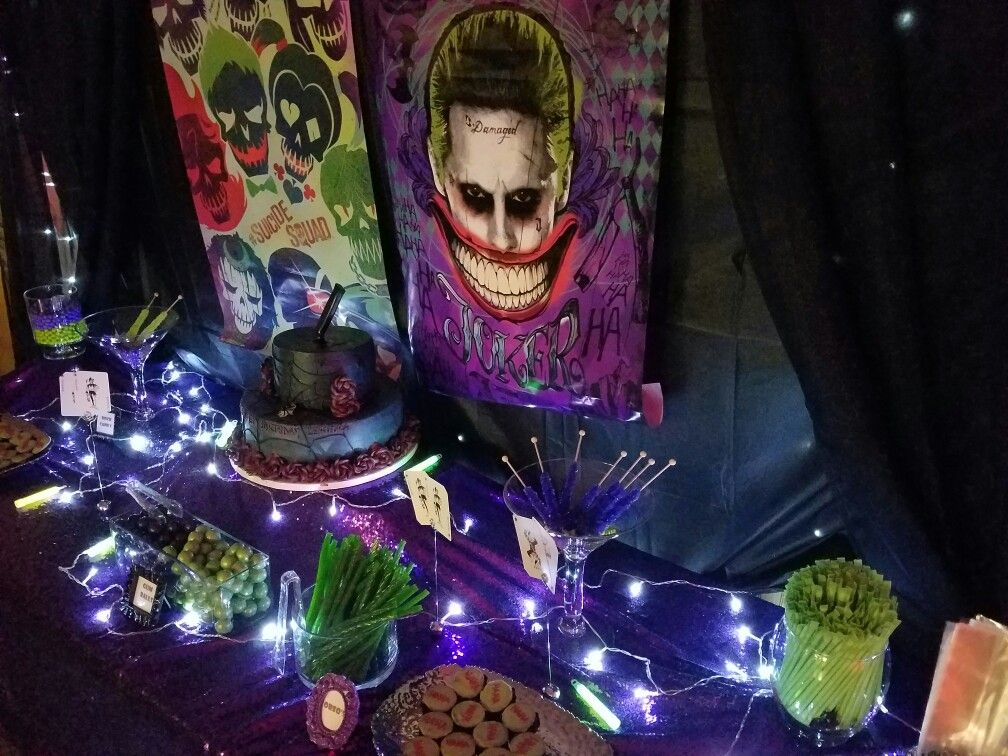 suicide squad candy table joker my candy