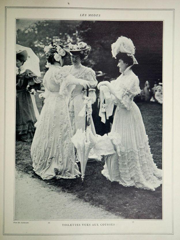Les Modes July 1904 p 15- at the races