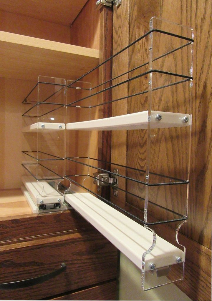 22x2x11 spice rack drawer cream in 2020 pull out spice