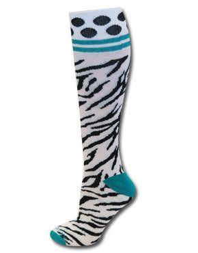 Zebra Baseball Socks