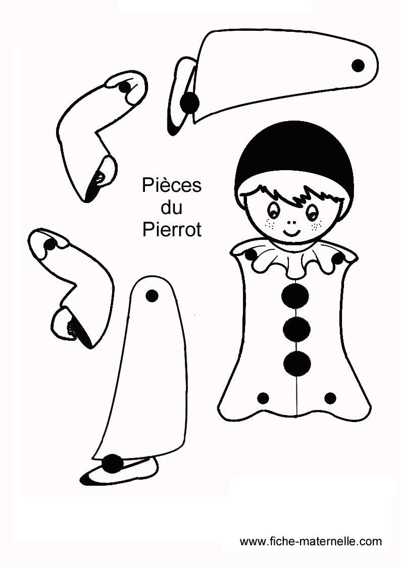 imprimer les mod¨les sur feuille carton blanc découper colorier et les fixer avec des attaches parisienne et voil le tour est jouer Bonhomme