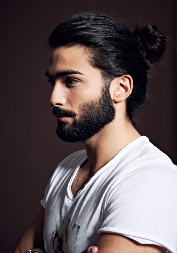 The Man Bun Hairstyle Buns For Men Beard Styles For Men Long Hair Styles Men Man Bun Hairstyles