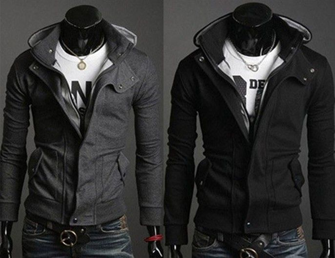 Personalized Multi Zipper Large Lapel Mens Slim Short Leather ...