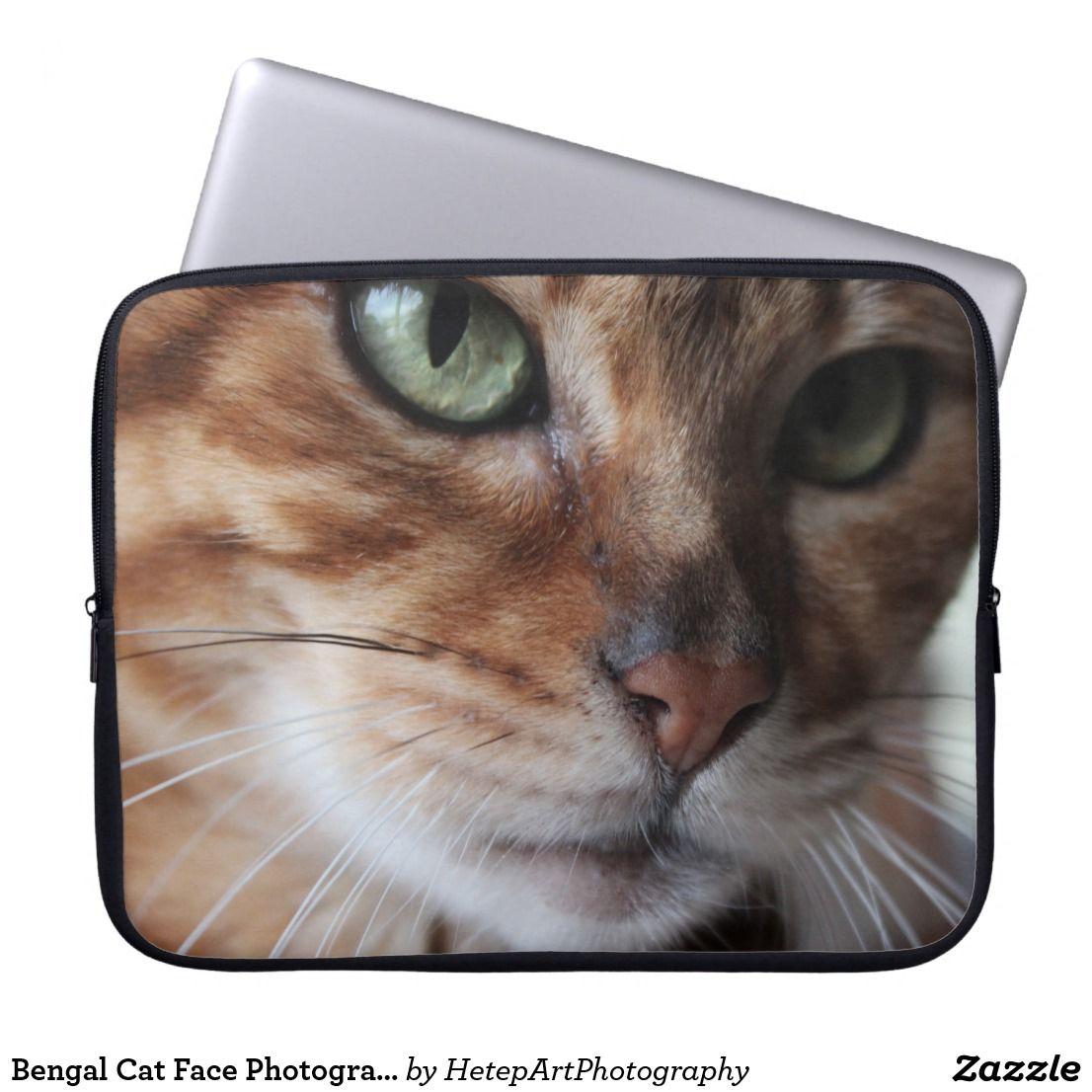Bengal Cat Face Photograph, Add Your Own Meme Laptop