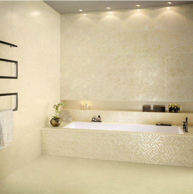Carrelage mosaïque dans la salle de bains 30 idées modernes Bar - salle de bains beige