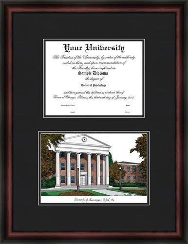 Ole Miss Rebels Diploma Frame & Lithograph Print