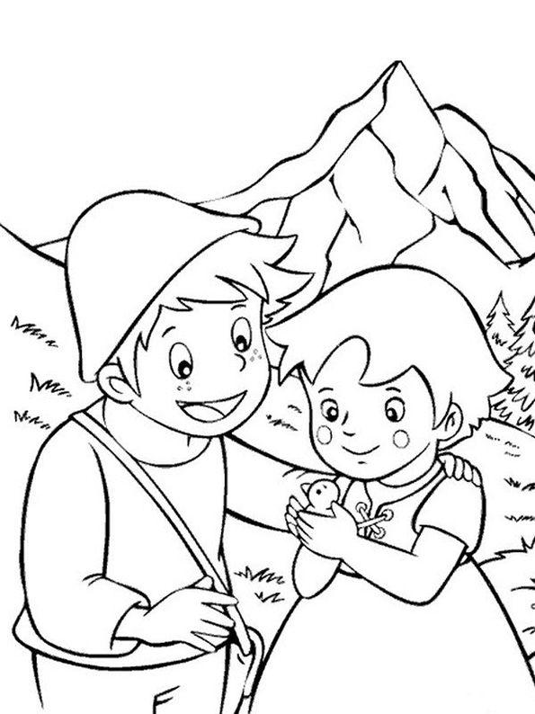 Heidi und Peter mit vogel | Dibujos de mi época | Pinterest ...