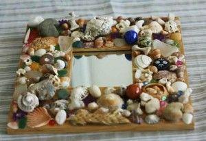C mo hacer un marco de espejo decorado con piedras de for Como hacer un espejo