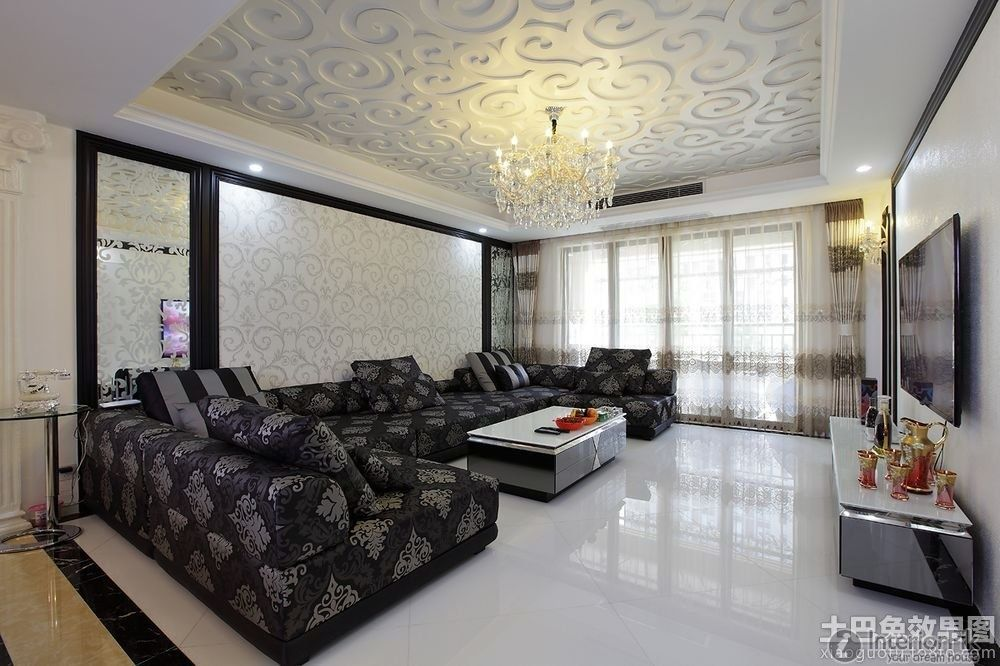 Ceiling design in living Room shows more