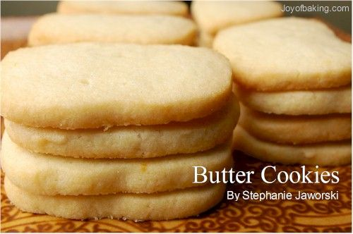 Cookie recipes butter cookies
