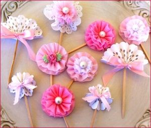 Tea Party Cupcake Toppers by rosepink720