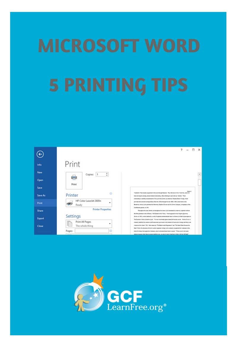 Where can I print documents: several tips