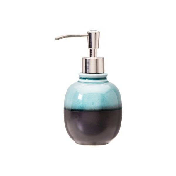 Threshold Glazed Soap Dispenser   Blue (780 RUB) ❤ Liked On Polyvore  Featuring Home, Bed U0026 Bath, Bath, Bath Accessories, Blue Bathroom  Accessories, ...