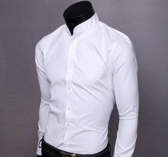 Men's Mao Collar Shirt