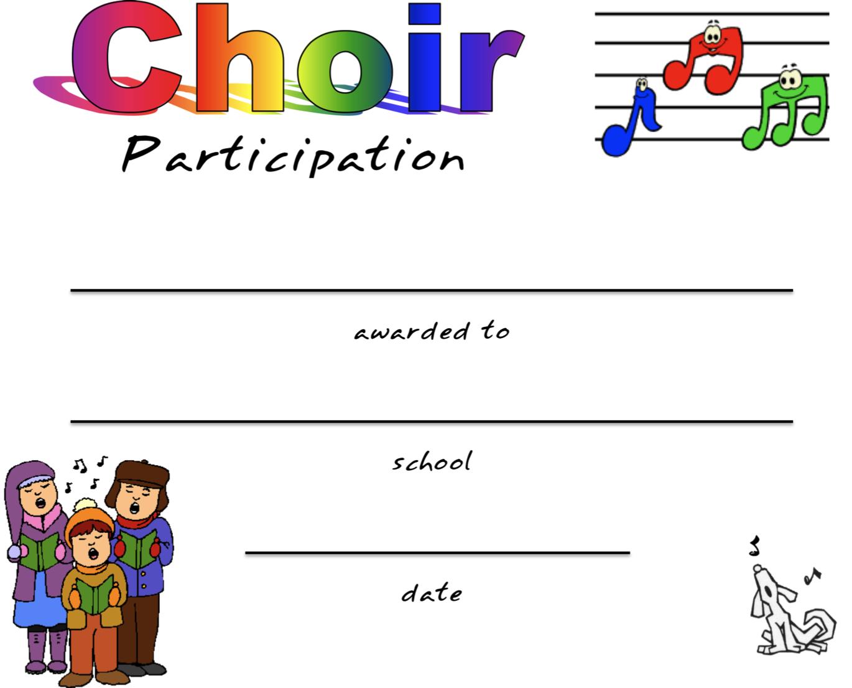 Beth S Music Notes Chorus Certificates Awards
