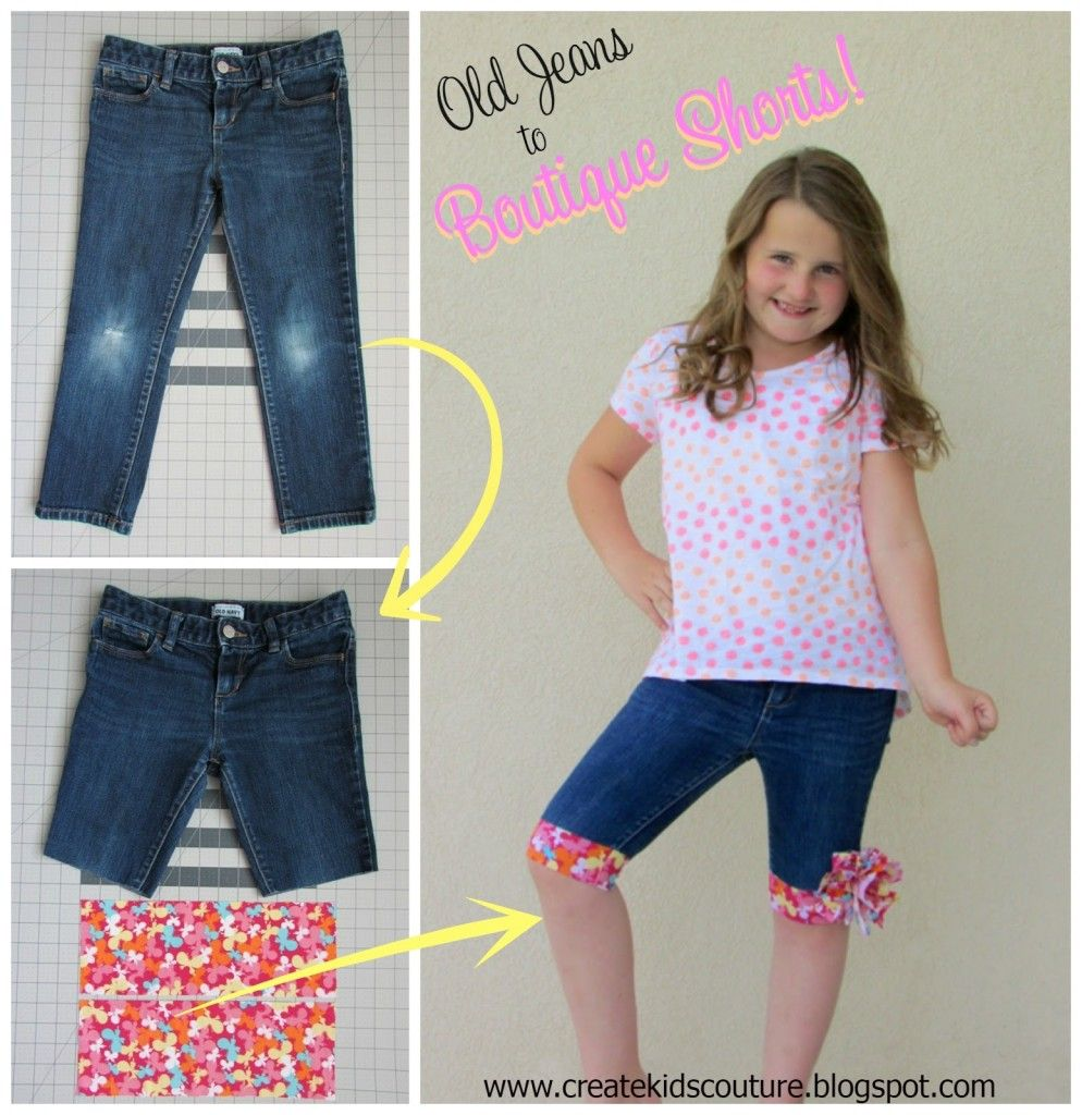 Upcycle Old Jeans into Cute Shorts Tutorial