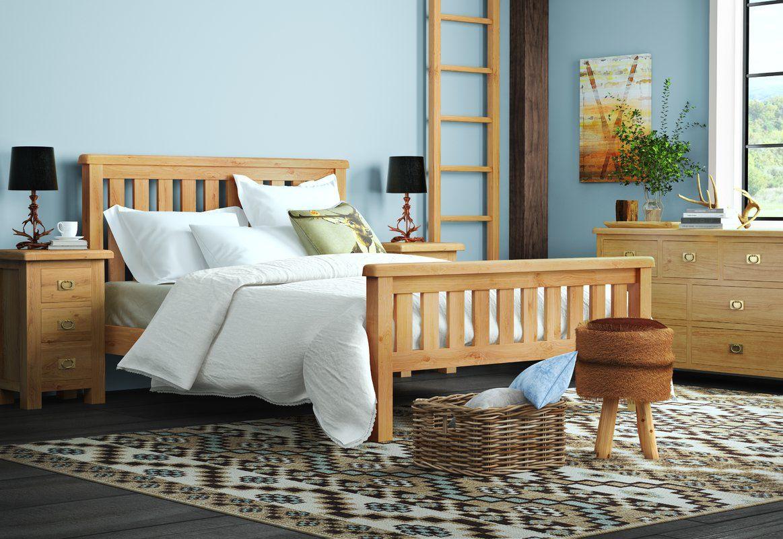Afognak Slatted Bed Frame Bed slats, Bed, Bed frame
