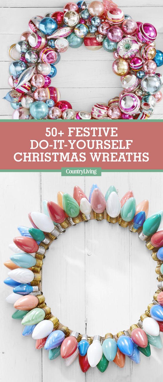 50 festive do it yourself christmas wreath ideas diy christmas 50 festive do it yourself christmas wreath ideas diy christmas wreaths and holidays solutioingenieria Images