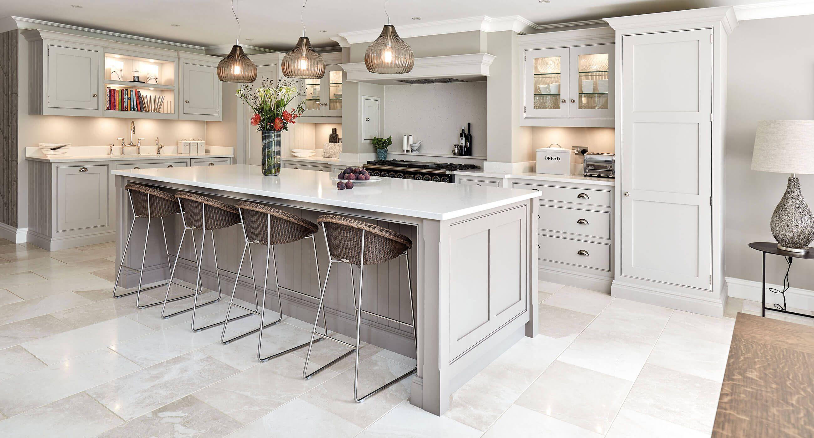 Best Open Plan Grey Kitchen Open Plan Kitchen Living Room 640 x 480