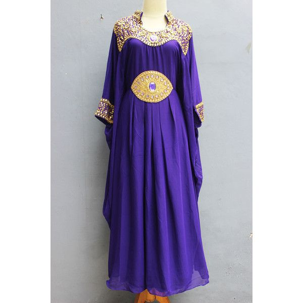Purple Sequin Kaftan Plus Size Dress Women's beach cover ups,... ($49) ❤ liked on Polyvore featuring maternity