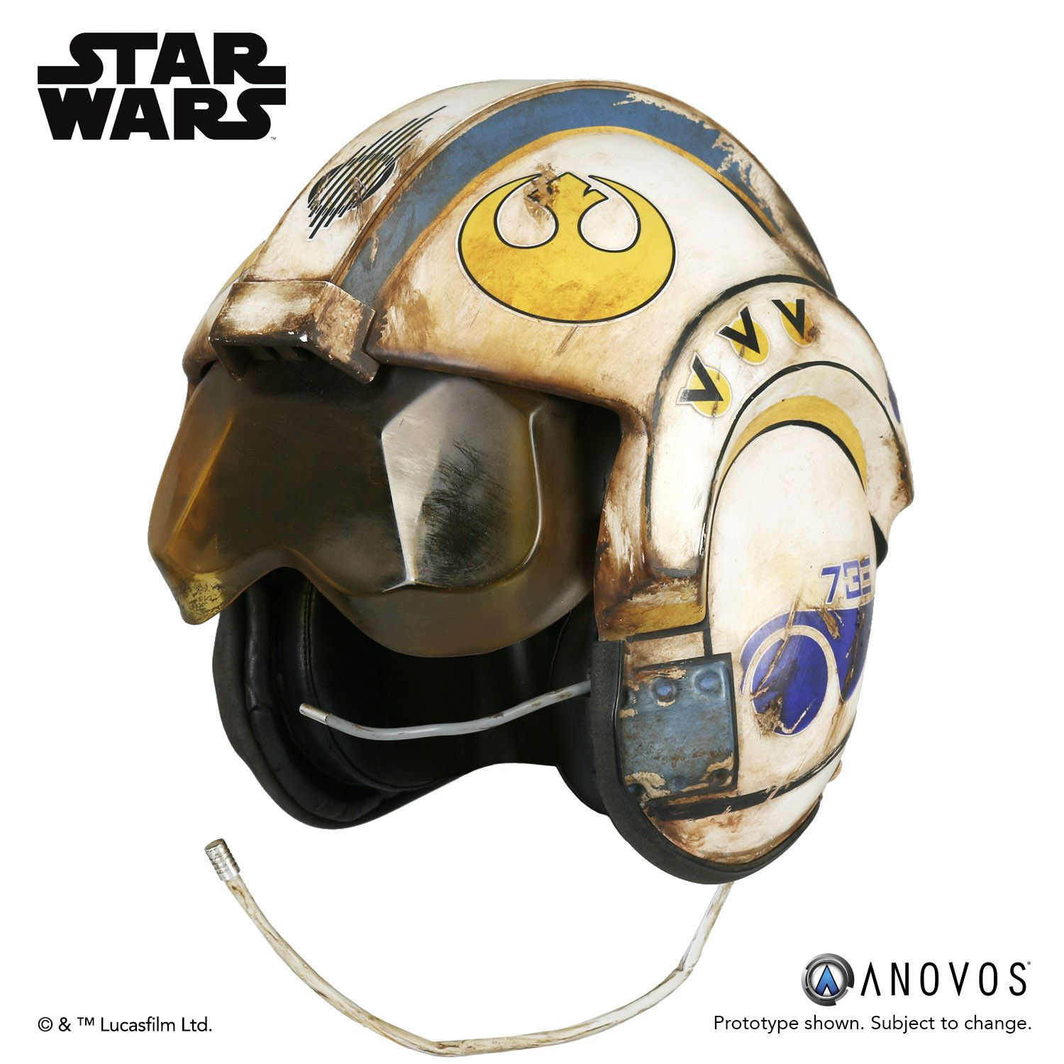 Red 5 vinyl system prop replicas custom fabrication special - Star Wars The Force Awakens Rey Salvaged X Wing Helmet Accessory