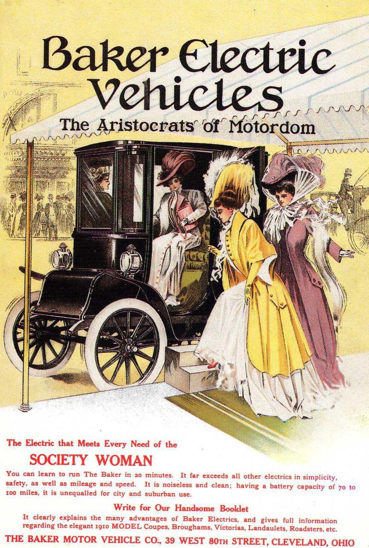 Baker Electric Vehicles Car Advert