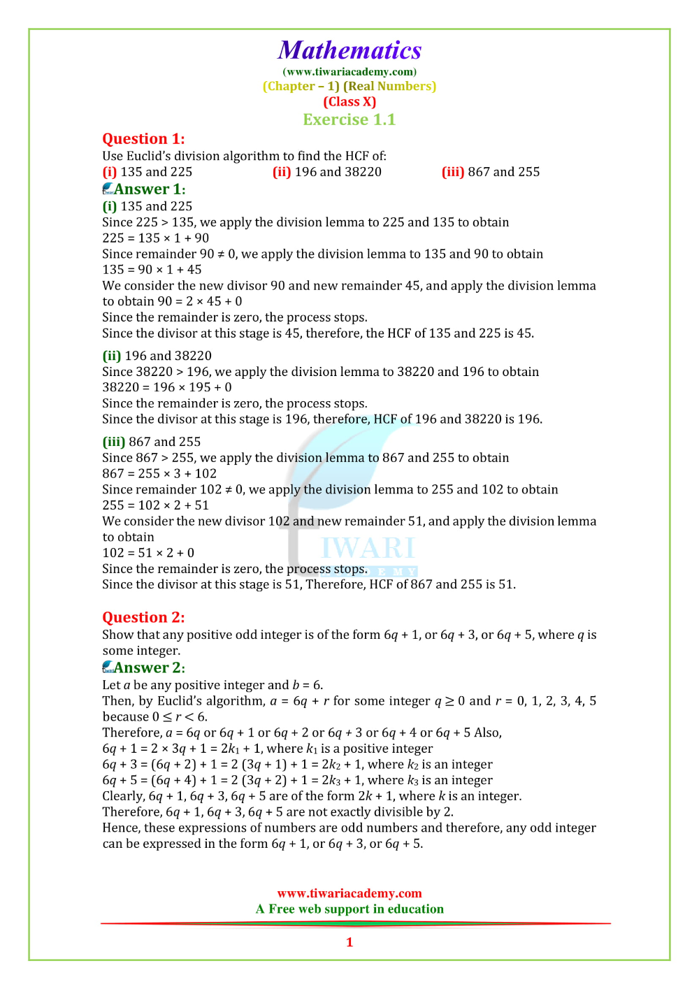 Ncert Solutions For Class 10 Maths Chapter 1 Exercise 1 1 For 2019 20 In 2020 Math Math Formulas Division Algorithm