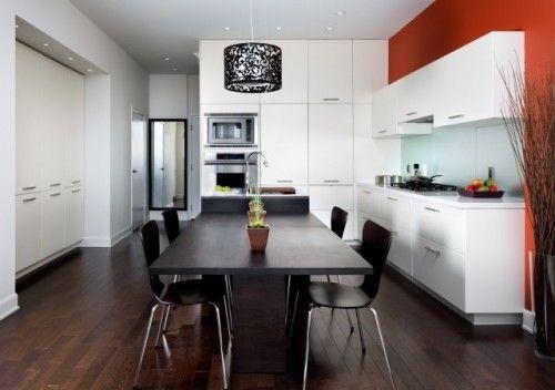 orange kitchen wall not sure i like the white cabinets on orange