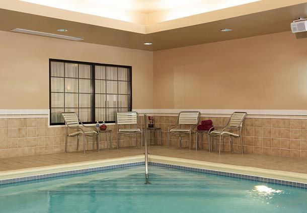Enjoy our heated indoor pool, which features lounge chairs and tables as well as towels for your convenience. So jump in and enjoy a refreshing dip!