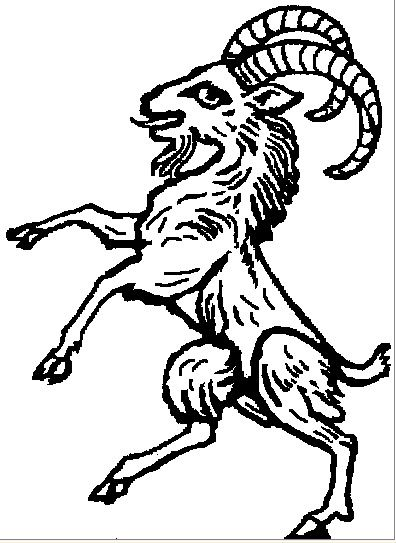 Heraldic Ram Rampant