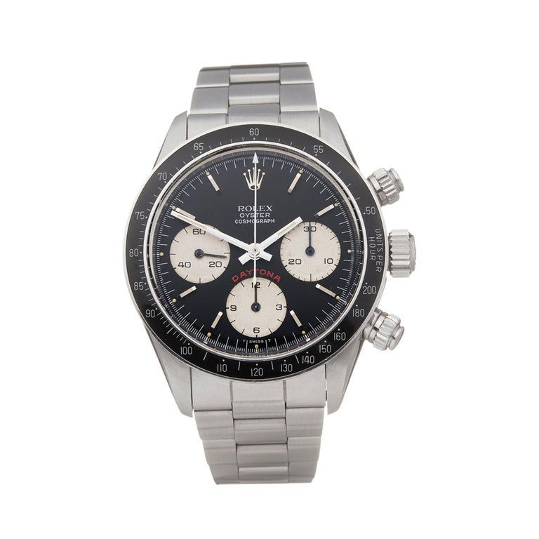 Rolex Daytona Big Red Cosmograph Stainless Steel 6263 Wristwatch