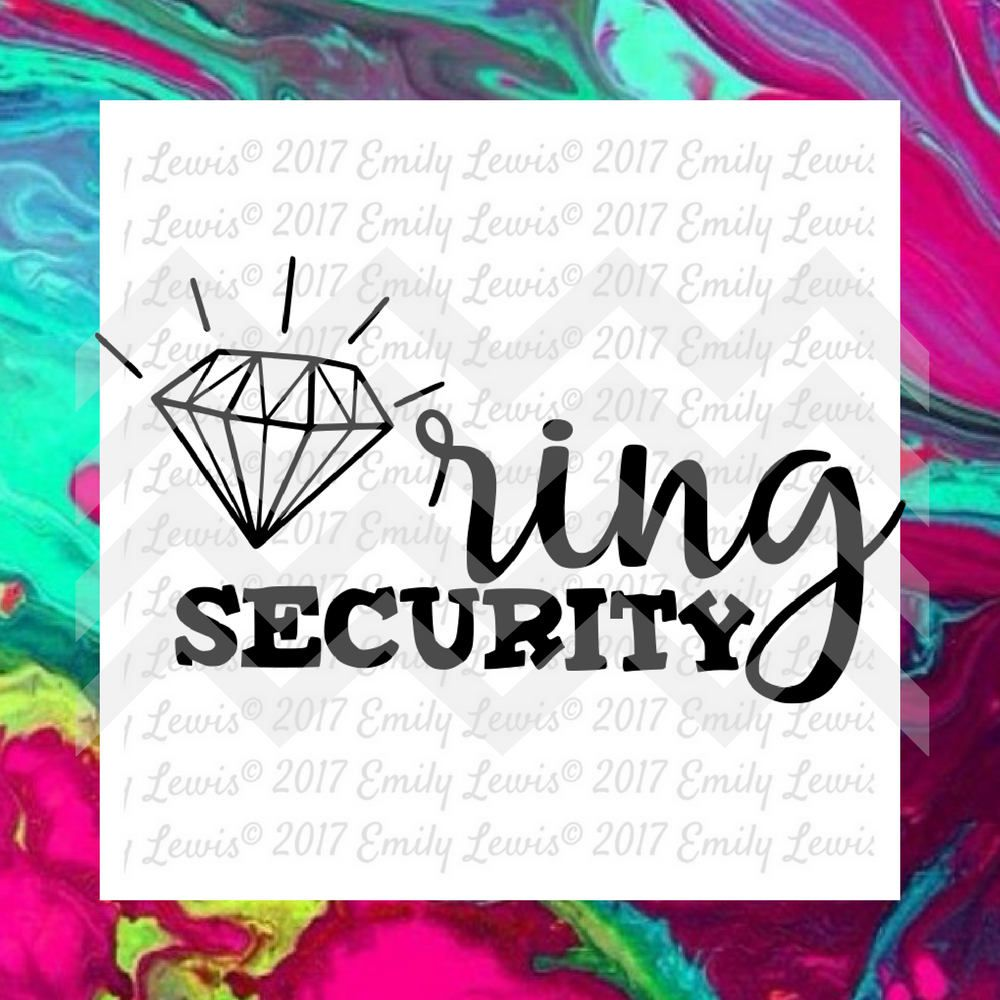 Ring security svg ring bearer clipart ring beau etsy